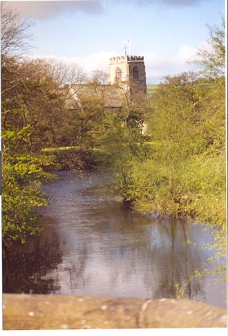 Hampsthwaite - Church of St Thomas a'Becket from Hampsthwaite Bridge