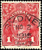 Марка один пенни красная продать монету 1881 года