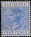 Stamp of Montserrat 1880 4p Mi4.jpg