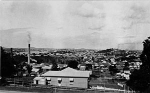 Albion, Queensland - Panorama from Albion towards Bowen Hills, c. 1915