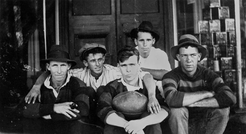 File:StateLibQld 1 154764 Players from Zillmere Football Club on a trip to Kalbar, ca. 1921.jpg