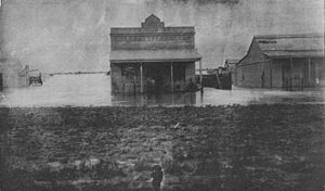 Winton, Queensland - The flooding in Winton in 1906 broke records.