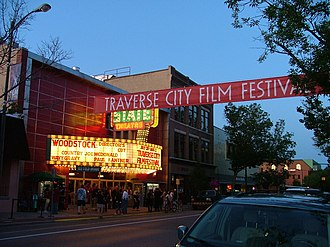 Traverse City Film Festival - Scene from outside the State Theatre