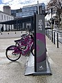 Station Libélo devant la gare de Valence-Ville en janvier 2021.jpg