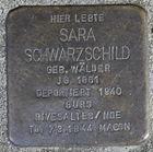 Stolperstein für Sara Schwarzschild