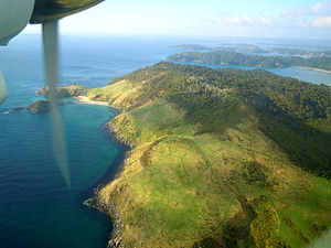 Stewart Island - Northern part of Stewart Island, with a view over some of the bays