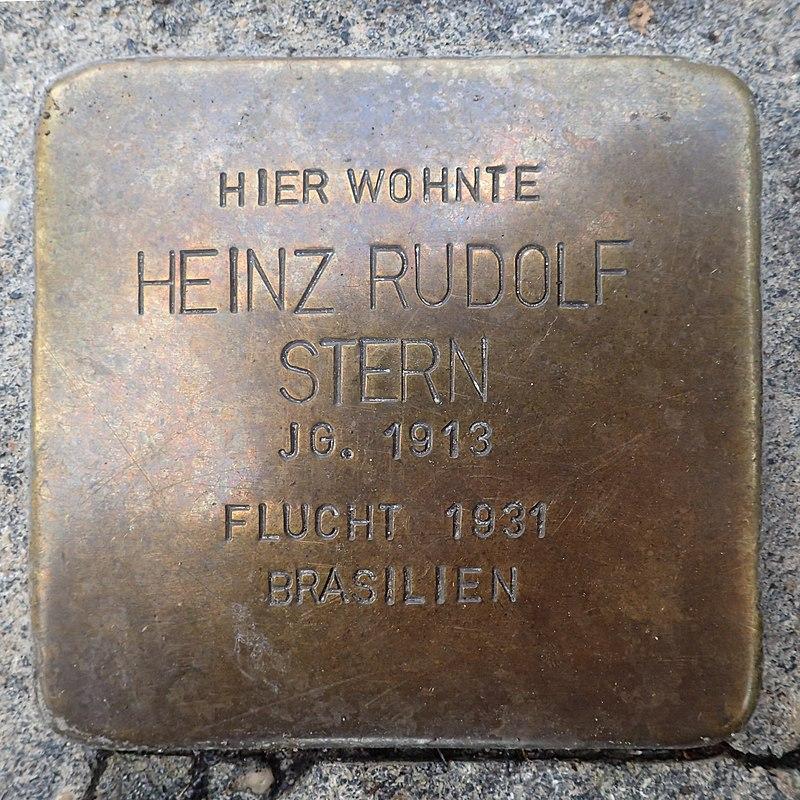 Stolperstein Einbeck Bürgermeisterwall 6 Heinz Rudolf Stern.jpg