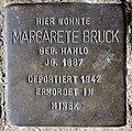 Stolperstein Eschenallee 13a (Weste) Margarete Bruck.jpg