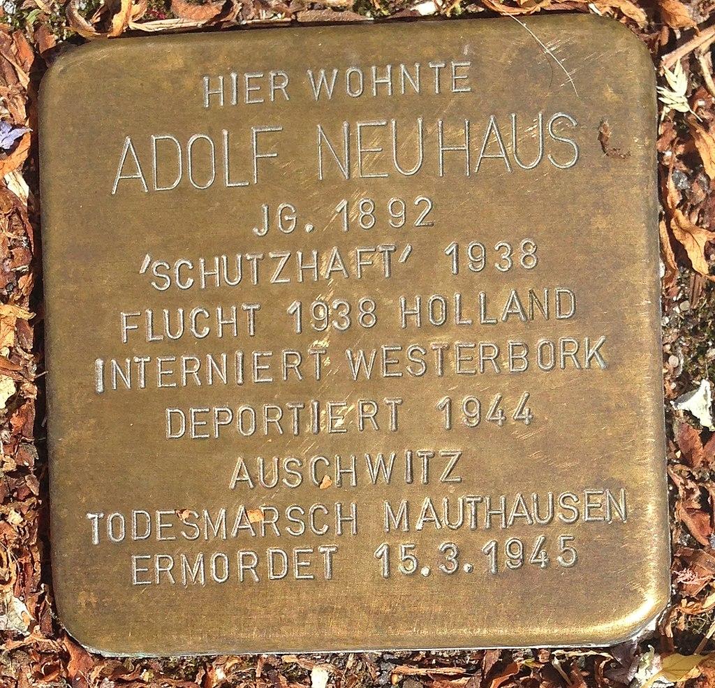 Stolperstein Hadamar Neumarkt 17 Adolf Neuhaus
