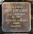 Stolperstein Klosterstr 73 (Mitte) Grete Lewinsohn.jpg