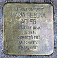 Stolperstein M.H. Adler Esch-Alzette, 38 rue du Brill 01.jpg