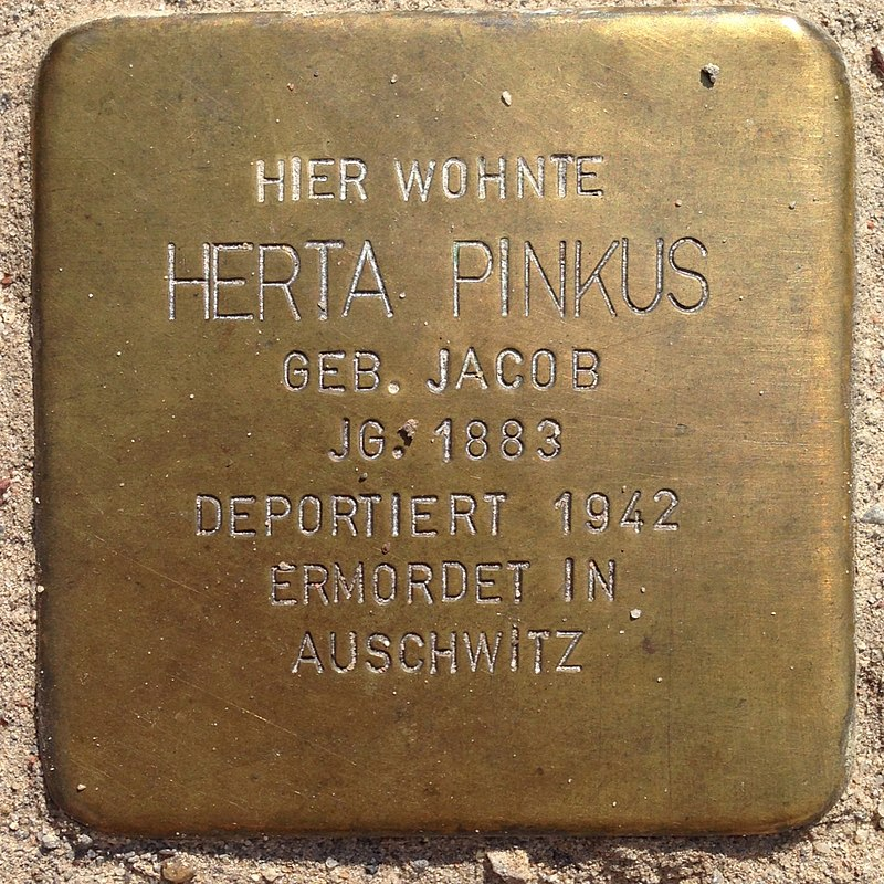 Stolperstein Penzlin Bahnhofstraße 14a Herta Pinkus