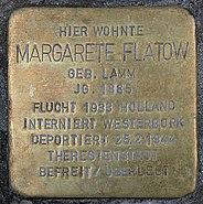 Stolperstein Schlüterstr 49 (Charl) Margarete Flatow