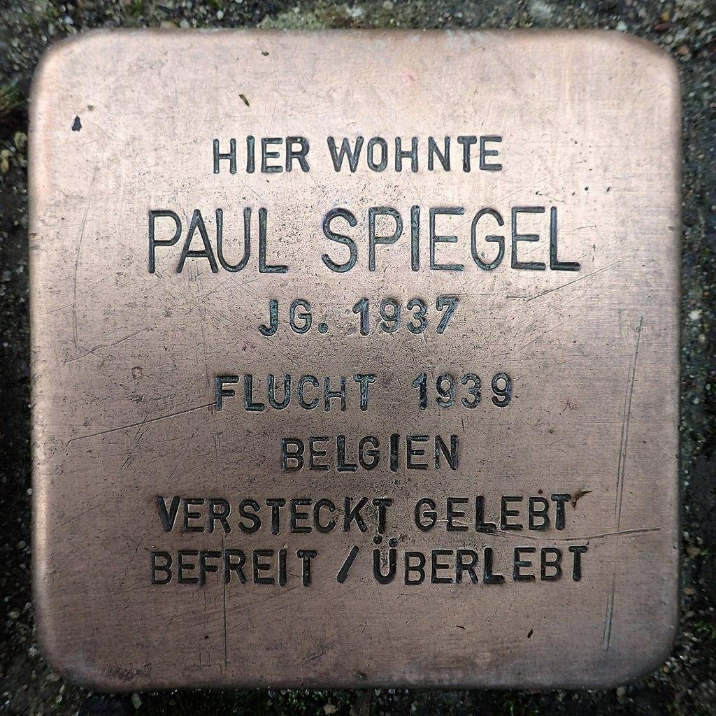 Stolperstein für Paul Spiegel