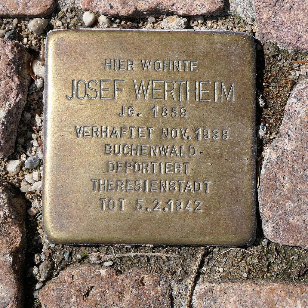 Stolperstein für Josef Wertheim, Crotenlaider Strasse 57, Meerane.JPG