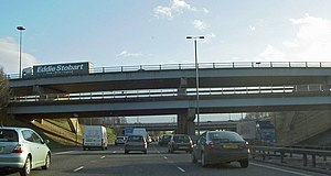 M62 motorway - Stationary traffic at Lofthouse Interchange