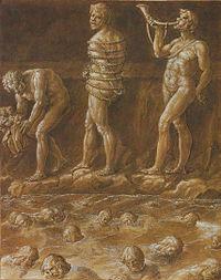 L'Enfer de Dante a donné lieu é de nombreuses illustrations (ici de Giovanni Stradano).