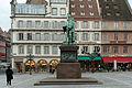 Strasbourg, place Gutenberg, statue de Gutenberg, David d'Angers 04.jpg