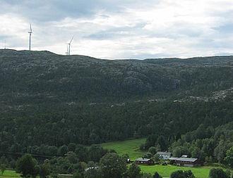 Hitra (island) - View of the island near Straum
