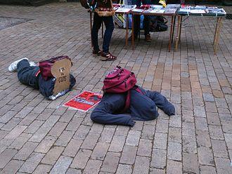 University of Melbourne Student Union - Students Protest Against Education Cuts. University of Melbourme Parkville, September 2013