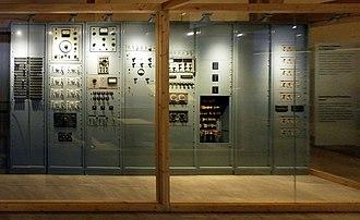 Studio di fonologia musicale di Radio Milano - Image: Studio di fonologia del 1955 della sede Rai di Milano Museo degli strumenti musicali del castello sforzesco Milano (front)