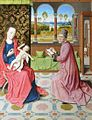 Studio of Dieric Bouts Saint Luke painting the Virgin.jpg