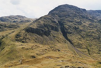 Der Sty Head Pass vom Great Gable