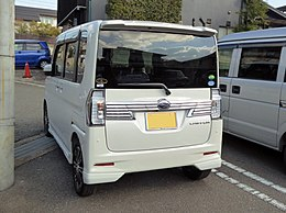 Subaru CHIFFON CUSTOM RS Limited Smart Assist (DBA-LA600F) rear.jpg