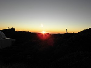 Swedish Solar Telescope - Sunrise at the telescope