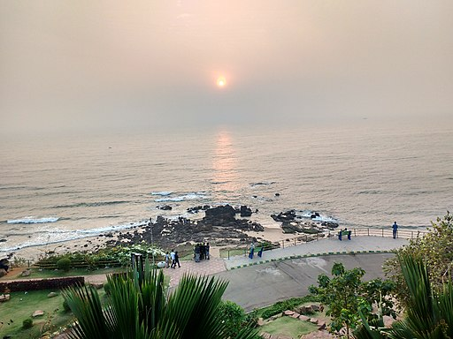 Sunrising in the mornings at Tenneti Park,Visakhapatnam(Vizag)