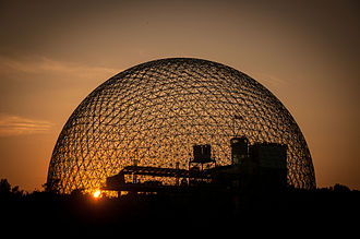 Montreal Biosphere - Biosphere at the sunset.