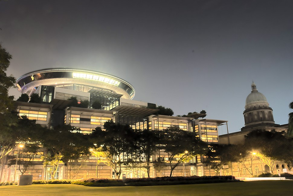 Supreme Court of Singapore at night (HDR) - 20071115