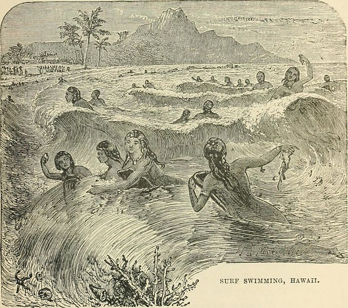 G. T. Bettany's Surf Swimming, Hawaii Illustration