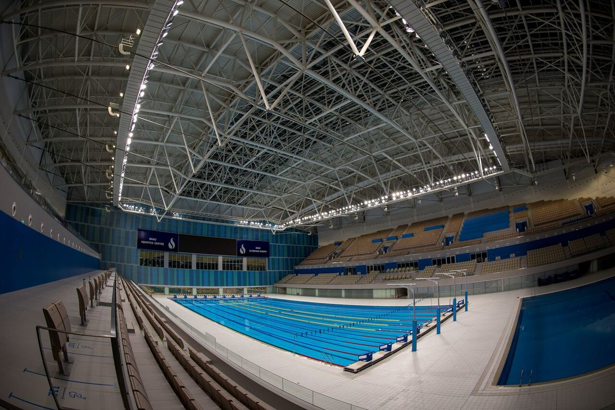 Olympic size swimming pool wikipedia for Swimming pool size