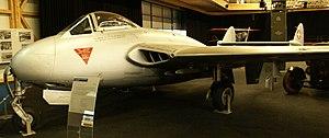 Swiss Air Force - Swiss DH100 Vampire Mk6 on display