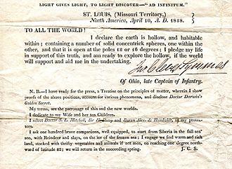 John Cleves Symmes Jr. -  Symmes' Circular No. 1, 1818