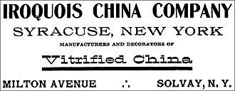 Iroquois China Company - Iroquois China Company - Advertisement 1908