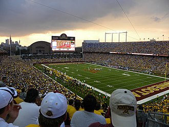 TCF Bank Stadium - Stadium opener vs. Air Force on September 12, 2009