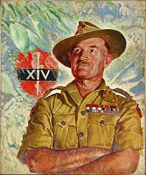 Fourteenth Army (United Kingdom) - Portrait of General Slim as commander of the Fourteenth Army, commissioned by the Ministry of Information.