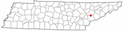 Location of Rockford, Tennessee
