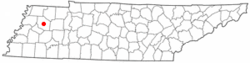 Location of Trenton, Tennessee
