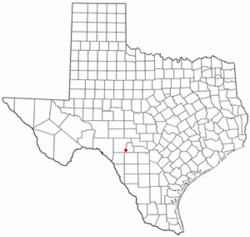 Location of Camp Wood, Texas