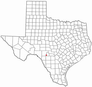 Camp Wood, Texas - Image: TX Map doton Camp Wood