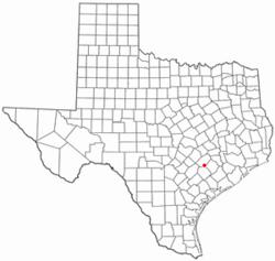 Location of Schulenburg, Texas
