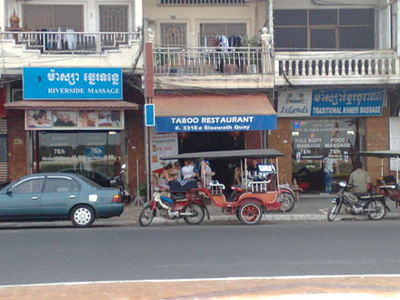 Massage parlors in Cambodia