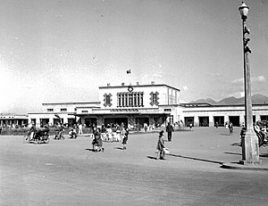 Taipei Railway Station - The old Taipei Station in 1948.