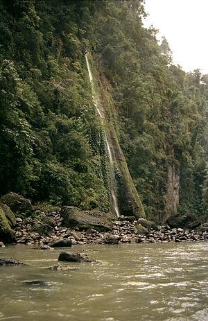 Pagsanjan Falls - Talahib Falls is the first waterfall encountered by boat riders heading to Pagsanjan Falls