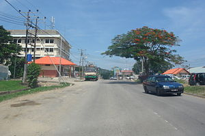 Tamparuli - Main road leading into Tamparuli town centre