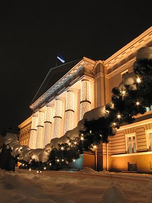 Culture of Estonia - The University of Tartu at Christmas.