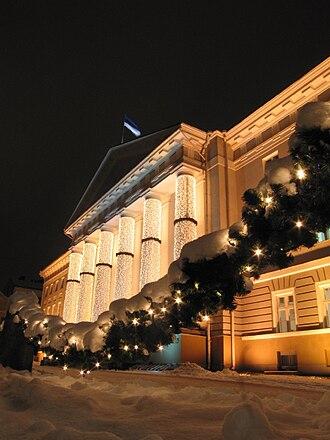 Culture of Estonia - The University of Tartu at Christmas.